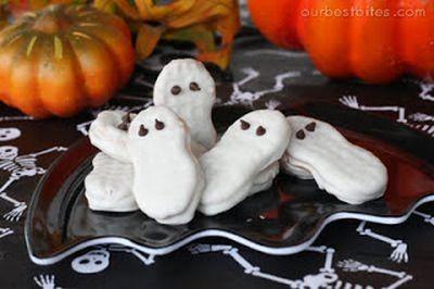 Halloween Nutter Butter Ghosts