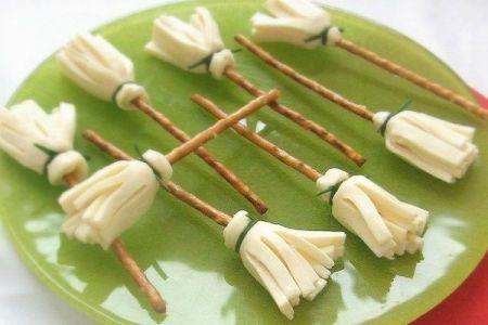 Witch Broom Halloween Snacks