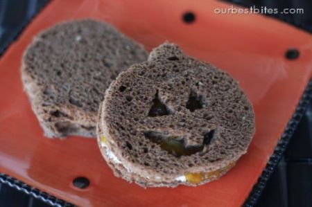 Jack-O-Lantern Sandwiches