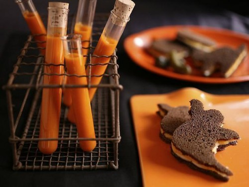 Halloween Soup And Sandwich