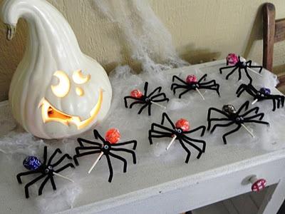 Halloween Spider Lollipops