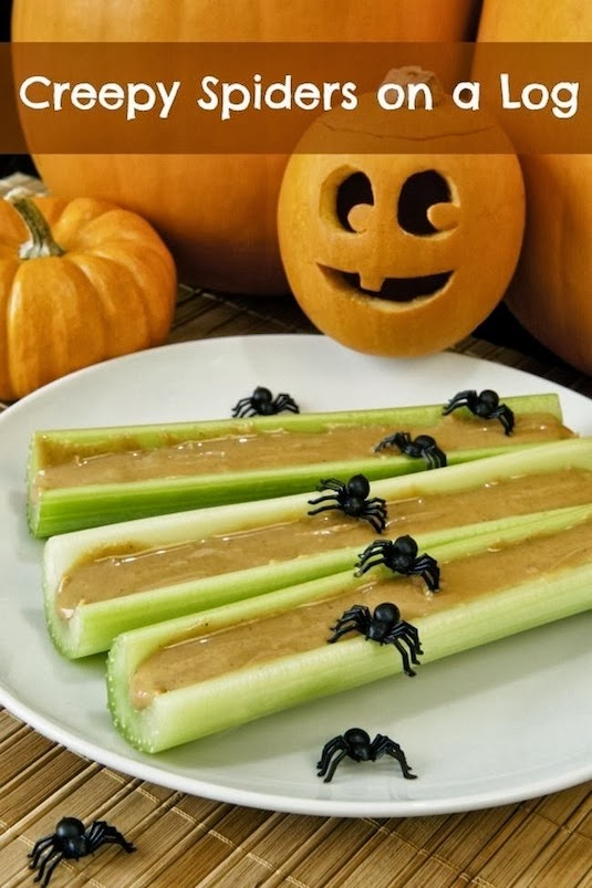 Halloween Spiders On A Log