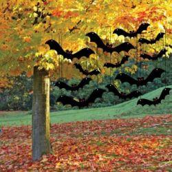 Flying Bats Halloween Yard Decorations