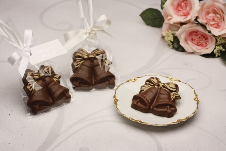 Handmade Chocolate Wedding Favor Bells