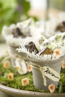 Handmade Chocolate Wedding Favor Display