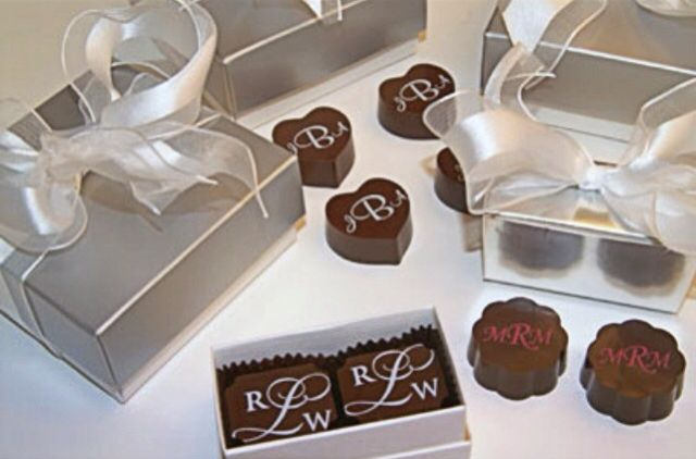 Handmade Chocolate Wedding Favor Gifts