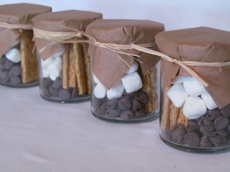 Handmade Chocolate Wedding Favor S'mores