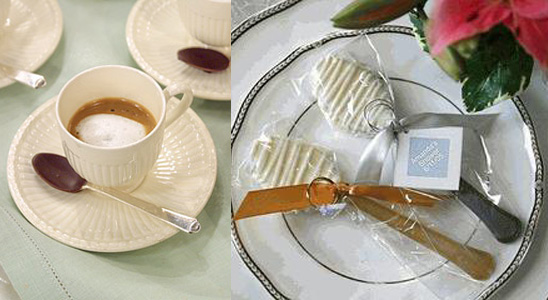 Handmade Chocolate Wedding Favor Spoons