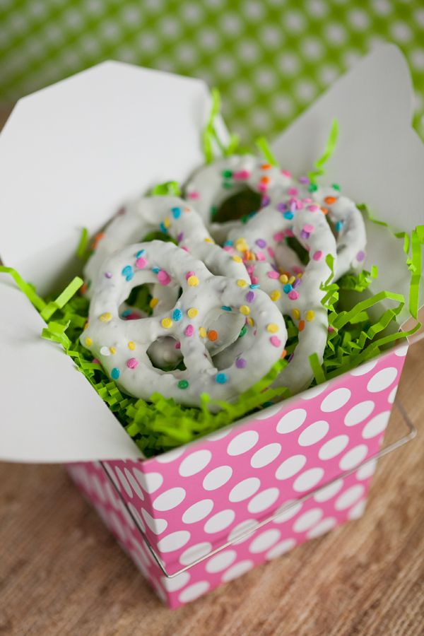 Handmade Chocolate Wedding Favor Pretzels