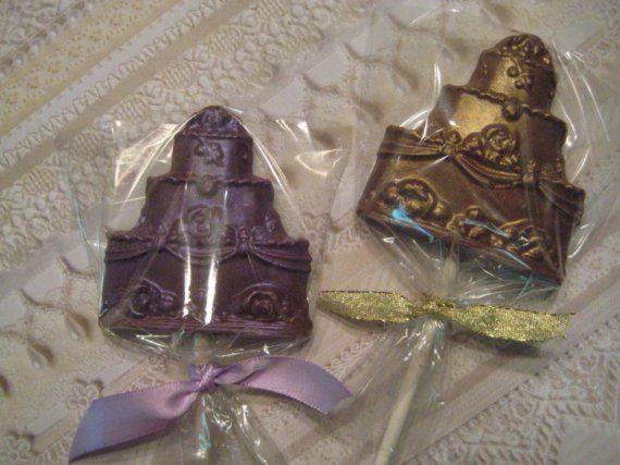 Handmade Chocolate Wedding Favor Cakes