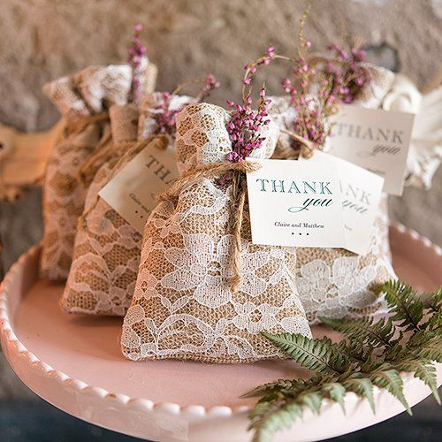 Rustic Homemade Wedding Favor Idea