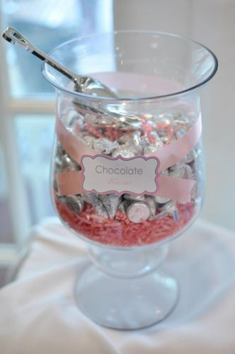 Hershey Kiss Wedding Favor Display