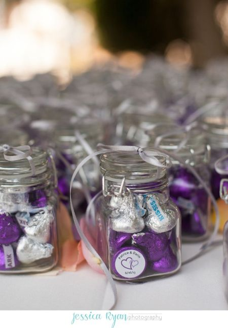 Purple Hershey Kiss Wedding Favor