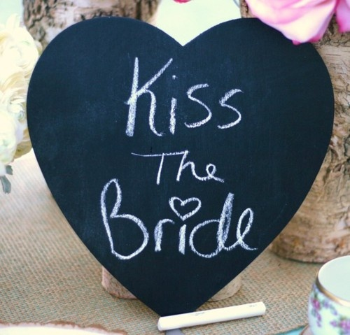 Kiss The Bride Sign