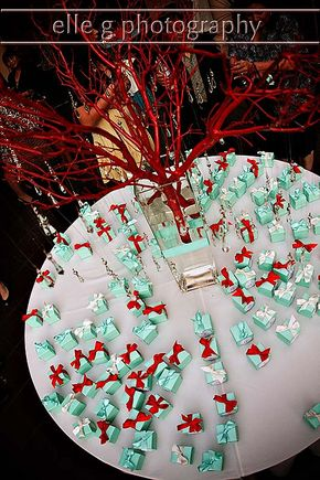 Hershey Kiss Wedding Favor Tree