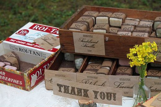 Charming Homemade Wedding Favor Soap Display
