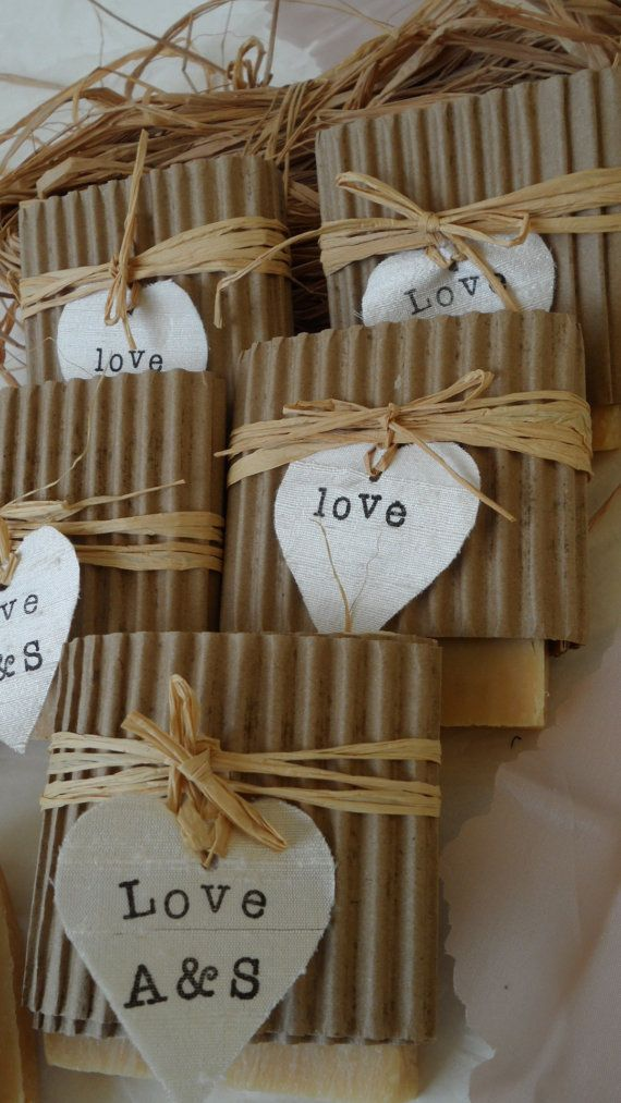 Lovely Homemade Soap Wedding Favor