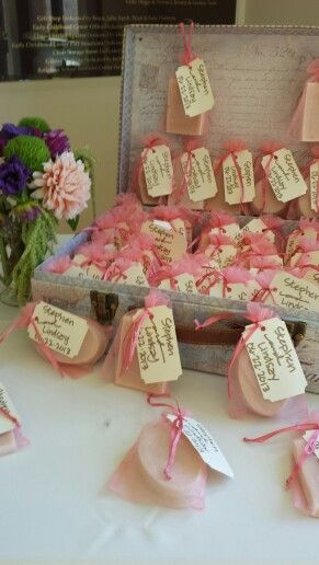 Fun Homemade Soap Wedding Favor Display