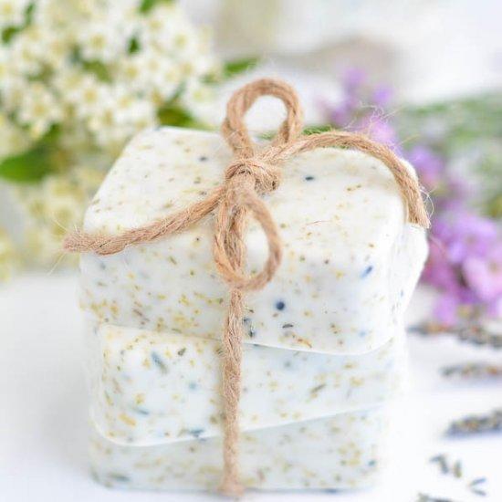 Homemade Wedding Favor Soaps