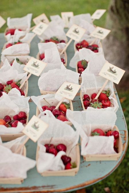 Ideas For Homemade Wedding Favors With Fruit