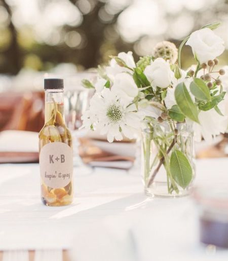 Olive Oil Idea For Homemade Wedding Favors