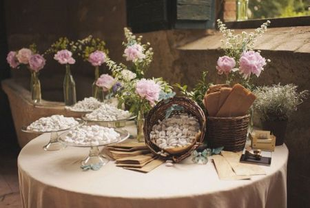 Jordan Almond Wedding Favor Presentation