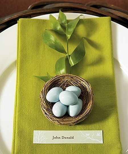 Jordan Almond Wedding Favor Bird Nests