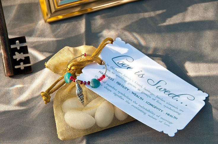 Jordan Almond Wedding Favor Gift Tag