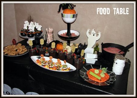Halloween Treats For Kids Buffet