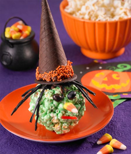Popcorn Ball Halloween Treats For Kids