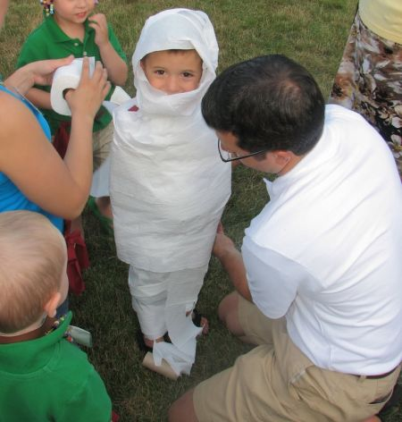 Kindergarten Halloween Mummy
