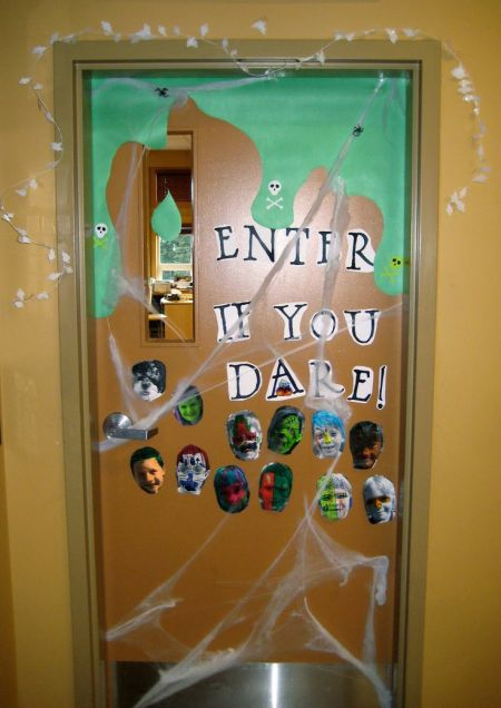 Enter If You Dare Halloween Door