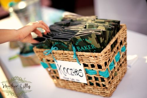 Camouflaged Wedding Favor Koozies