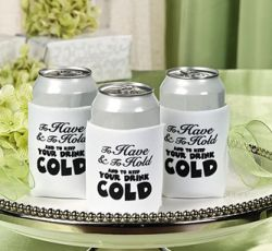 funny themed wedding favors favor koozies