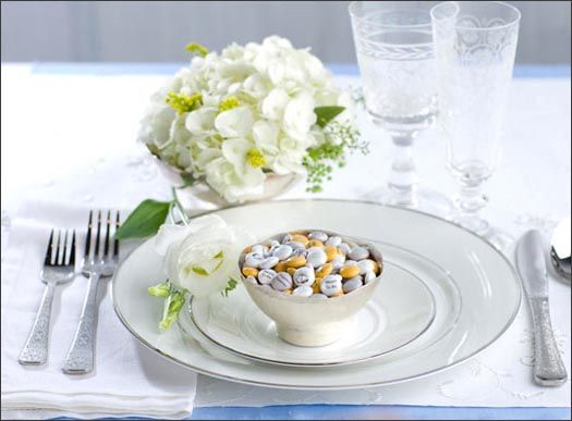 M and Ms Wedding Favor Tablescape