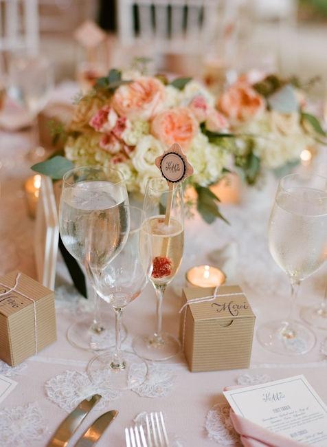 Elegant M&Ms Wedding Favors