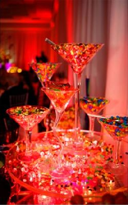 Contemporary M&Ms Candy Buffet
