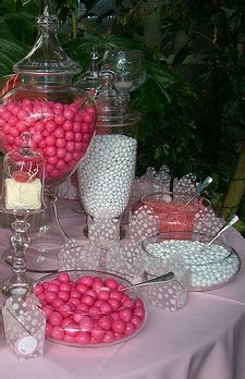 Pink & White Candy Buffet