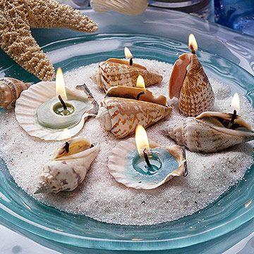 DIY Candle Wedding Favor Shells