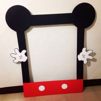 His mickey mouse birthday photo frame