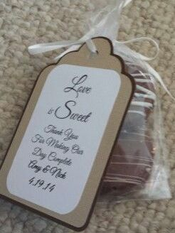 Oreo Cookie Favor Tag