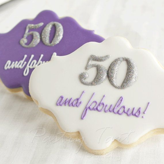 Planning A 50th Birthday Party Cookie Favor