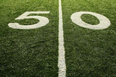 50 Yard Line Photo For 50th Birthday