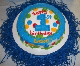 First Boy Birthday Smash Cake