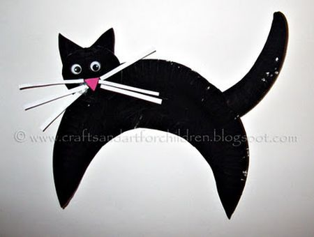 Scaredy Cat Preschool Halloween Craft