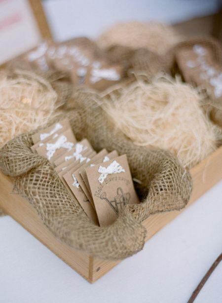 Burlap Seed Packet Wedding Favors