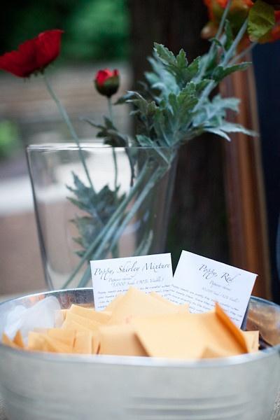 Seed Packet Wedding Favors Display