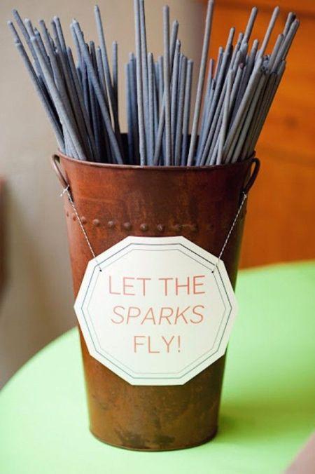 Sparklers For Weddings Idea