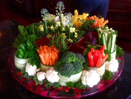 Vegetable Appetizer Presentation