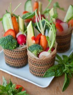 Vegetable Appetizer Basket